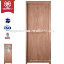 Fábrica de atacado Custom PVC Plastic Interior Door Toilet com / sem vidro fosco