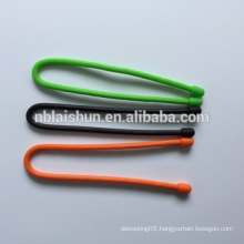 Rainbow Colors Silicone Gear Tie for Traveling Use