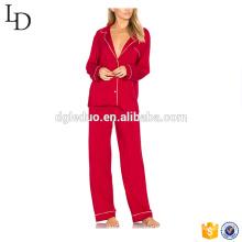 preço de fábrica de espessura de manga longa pijama pijamas virilha aberta adulto pijama