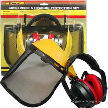 OEM ajustado da proteção do trabalhador manual do Muff da orelha da viseira da malha dos acessórios do trabalho