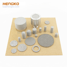 high temperature pressure microns sintered porous metal bronze inconel stainless steel filter