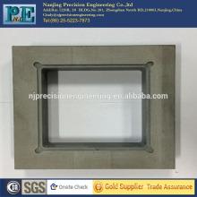 Mecanizado cnc personalizado piezas ABS, fresado cnc placas cuadradas ABS