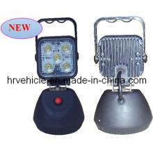 15W luz de trabalho com 4,2 polegadas interruptor magnético