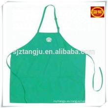 delantal, delantal de plástico con mangas, delantal de cocina