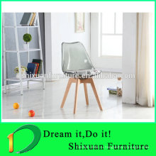 Transpaent сиденья тюльпан стиль деревянные ноги популярный стул