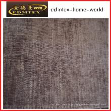 Tecido liso do Chenille para a embalagem do sofá nos rolos (EDM0235)