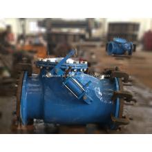 Válvula de retenção de giro com cilindro hidráulico