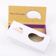 Private Label 3D Nerz Falsche / Streifenwimpern mit kundenspezifischer Wimpernverpackung