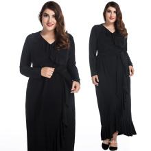Fashion black lady dress long style flounced skirt XL to 8 XL plus size dresses