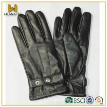 Chine usine Custom snap-fastener hommes hiver nappa cuir homme gants