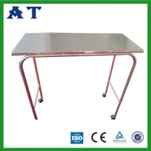 Modern Stainless Steel Gantry Tables with Wheels