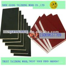 Brown / Black Pine Core Phenolic Película Contraplacado