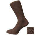 Brown Mens calcetines de cilindro doble