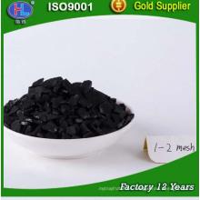 Carbón activado granular a base de cáscara de coco