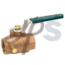 бронзовый шариковый клапан с стоком