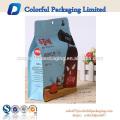 2017 Food grade customized stand up ziplock square bottom food bag