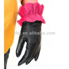 Neue Art Leder lotos_shaped Handschuhe Winter