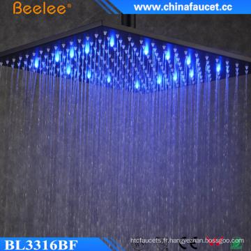 Douche de luxe douche économie d'eau noir peint LED Light Head Shower