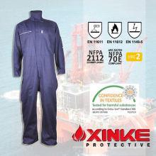 Macacão de proteção de flash-arco azul para trabalhador industrial