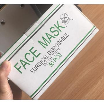 Mascarilla sugical médica desechable estéril de 3 capas