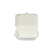 Disposable Hot Sale Sugarcane Bagasse Food Container Clamshell Food Box Tableware