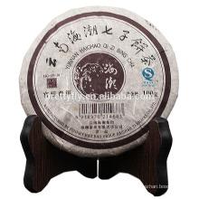 100g de laxante e desintoxicação Anti envelhecimento chá bolo Antiga árvore PU'ER Yunnan qizi bing cha