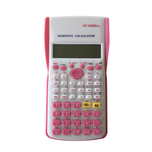 Pink Led Scientific Calculator with Cover for Girl
