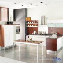 Schwarze Tischplatte Weiße Farbe Küchenschränke