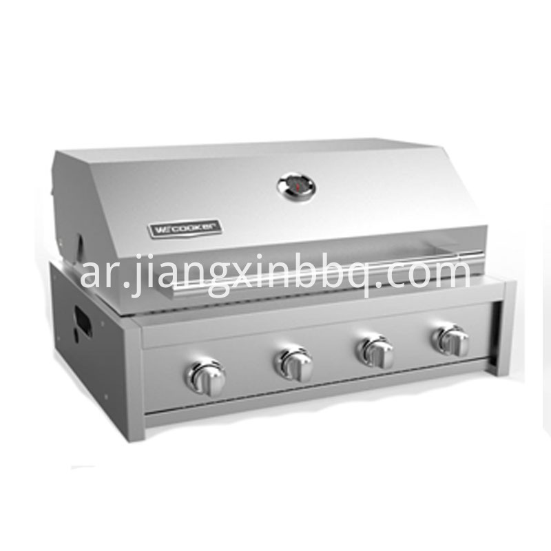 1 infrared burner +4 tube burners built-in Gas grill