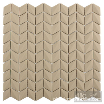 Brown Diamond Tiles Glass Mosaic Backsplash