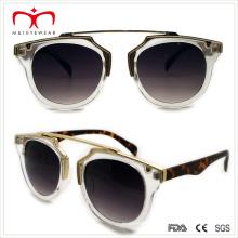2015 Latest Style Plastic Ladies Sunglasses with Metal Decoration (WSP508308)