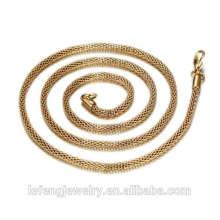 Personalizado 18 K Ouro / Rosa de Ouro / Prata Colar de Corrente / Barato Por Atacado de Aço Inoxidável 316 Cadeia de Colar de Ouro