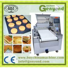 Comercial, bolo, produção, linha, formando, máquina, venda