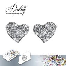 Destiny Jewellery Crystals From Swarovski Flashing Heart Earrings