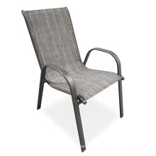 Garden Leisure Steel Fabric Chair Cheap Price Stackable Steel Tube Colorful Fabric Lounge Chairs