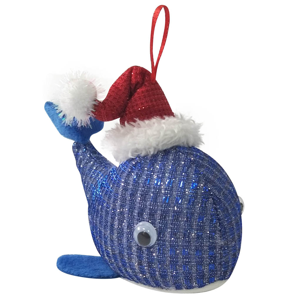 Christmas Ornament With 3d Narwhal Shape