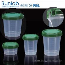 Conteneurs d'échantillons d'histologie de 1000 ml enregistrés par la FDA