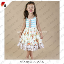 JannyBB new design floral ruffle toddler dress