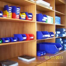 Хранения промышленные Пластиковые контейнеры для логистической индустрии-серии красного цвета