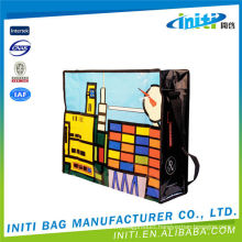 Large size laminated non woven bags picture printing bags with zipper