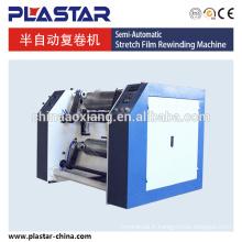 Rembobineur complètement automatique de film d'accrochage et machine de découpage de fente de tissu