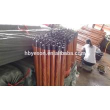 Mango de escoba de madera recubierta de PVC