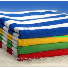 Serviette de plage 100% coton imprimé réactif velours (pt-012)