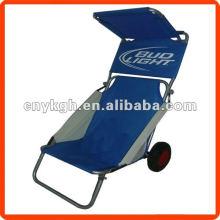 Cadeira de praia dobrável com guarda-sol
