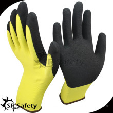 SRSAFETY 13g nylon liner palm coated sandy nitrile auto repair gloves