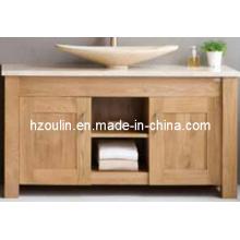 Armário moderno do banheiro da madeira maciça do carvalho (BA-1132)