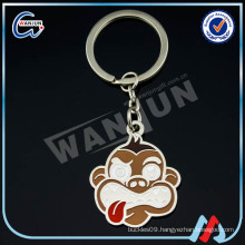 personalized custom soft enamel zinc alloy metal keychain