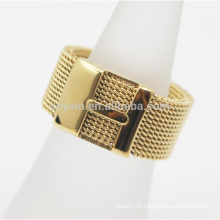 Made In China Women Girls Stainless Steel Mesh Ring With Letter H