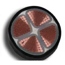 XLPE isolou o PVC Sheathed o cabo de poder de alta tensão 0.6 / 1kv Non-Armored