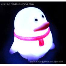 Пингвин пластиковые детские игрушки мягкие ПВХ светящиеся вспышки сияющие игрушки